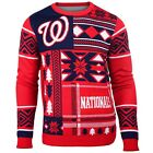 New MLB Washington Nationals Patches Ugly Sweater