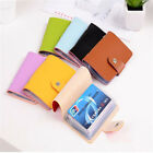 US 2x 24Cards ID Credit Card Holder Pocket Case Purse Wallet Keychain Portable