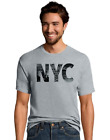 2 Hanes Men's NYC Collage Graphic Tee Shirts GT49 Y07074