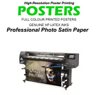 High Resolution Colour Poster Printing Service Quality Photo Paper Satin 225gsm