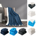 Fleece Throw Blanket Soft Plush Reversible Blankets Warm Lambswool for Sofa Bed image