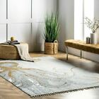 nuLOOM Thomas Paul Flatweave Octopus Cotton Area Rug in Ivory, Grey, Gold