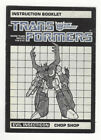Transformers G1 Instruction Manual Booklets And Checklist