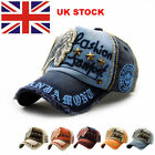 UK Personalised Unisex Vintage Baseball Cap Adjustable Leisure Golf Cowboy Hats
