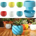 Small Cute Oval Office Decor Home Garden Planter Plastic Plant Flower DZ88 03