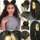 360 Peruvian Virgin Human Hair Lace Front Full Wig Pre Plucked Curly Wavy Girl's