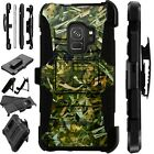 For Samsung Galaxy Phone Case Holster Stand Cover CAMO FOLIAGE GREEN LuxGuard