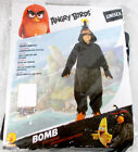 Rubies Angry Birds Movie Bomb Child Costume Unisex Black Hooded Jumpsuit S L NIP