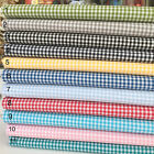 """Yarn Dyed 100% cotton gingham 144 cm wide (56"""") sold per half metre"""