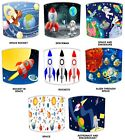 Kiddies Lampshades Ideal To Match Children`s Outer Space Wall Decals & Stickers.