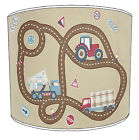 Lampshades Ideal To Match Transport Car Truck Digger Tractor Duvets & Wallpaper
