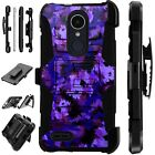 For Apple / LG Phone Case Holster KickStand Cover ARTISTIC CAMO PURPLE Lux Guard