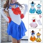 Sailor Fancy Dress Glove Uniform Cosplay Costume Japanese School Girl Outfit Kit