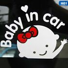 """""""Baby In Car"""" Waving Baby on Board Safety Sign Cute Car Decal Vinyl Sticker"""