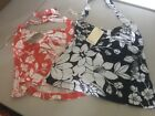 Tommy Bahama Luau Floral Halter Top s,m,l Coral/Navy NWT
