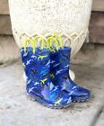 Внешний вид - NEW Boys Members Mark Blue Sharks Light Up Rain Boots 8 9 10 11 12 13