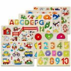 Baby Kids Letter Puzzle Wooden Animal Jigsaw Early Learning Educational Toys