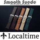 Smooth Suede Premium Quality Calf Leather Watch Straps In 20-24mm And 5 Colours