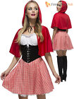Ladies Fever Red Riding Hood Costume Adults Book Week Fancy Dress Sexy Fairytale