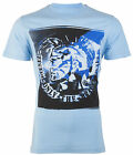DIESEL Mens T-Shirt MOHICAN Mohawk LIGHT BLUE Casual Designer Jeans $58 NWT image