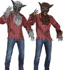 Adult Deluxe Werewolf Costume Were Wolf Warewolf Brown Silve