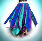 Ameynra very Petal Skirt Multi color Chiffon Belly Dance Gypsy Cosplay All sizes