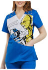 Cherokee Tooniforms Medical Scrubs Women Star Wars R2 Top Sz XS-XXL NWT $23.95 USD on eBay