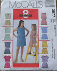 McCall's 3677 Girls, Shorts, Jumper & Top MANY SIZES OOP VINTAGE UNCUT