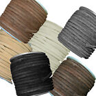 4mm Flat Genuine Suede Lace Leather Cord 25 Yard Spool 4x1.5mm
