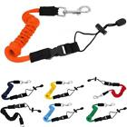 Safety Kayak Canoe Boat Paddle Leash Fishing Rod Coiled Lanyard Cord Elastic