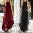 ZANZEA Women's Sleeveless Slip Dress Asymmetrical Waterfall Sundress Maxi Dress
