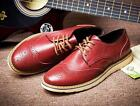 Mens Brogue Carving Faux leather Lace up Dress formal Business casual Shoes