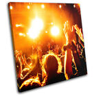 Concert Crowd Dancing Music DJ Club SINGLE CANVAS WALL ART Picture Print