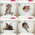 Home Decoration Accessories Bulldog/cat Pattern Wall Decals Toilet Sticker Uk