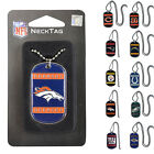 "New NFL Pick your Teams Engravable Neck Tag / Necklace / Dog Tag 26"" Balls Chain $8.09 USD on eBay"