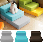 Fold Pet Stairs Mat 2 Step Dog Puppy Cat Sofa Bed Soft Ramp Sponge Ladder Climb