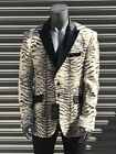 Men's Black | White Zebra Fashion Blazer