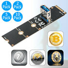 1/2/5/10x M.2/NGFF to USB3.0 PCI-E X16 Converter Graphic Card Extender Panel