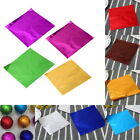 10 Colors Aluminum Foil Wrapper Chocolate Candy Wrapping Tin Embossing  Paper