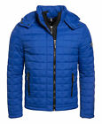 New Mens Superdry Box Quilt Fuji Hooded Jacket Sport Code Royal