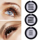 Magnetic Eyelashes Dual Magnet Glue-free 3D Reusable Natural Curly False Lashes