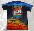 New Led Zeppelin Icarus Colorful Tie Dye U.S. Tour 1975 Mens Vintage T-Shirt image