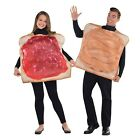 Couples Ladies Mens Funny Peanut Butter & Jelly Jam Fancy Dress Costume Outfit