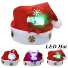 Lovely Snowman Elk Christmas Hat Led Caps For Adult Xmas Home Decoration