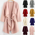 Womens Long Sleeve Front Open Casual Blazer Suit Jacket Coat Outwear Cardigan US