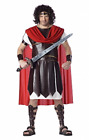 Mens Adult Roman Warrior Gladiator Deluxe Hercules Costume Outfit Plus Size