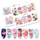 5 Sheets LEMOOC Flowers Nail Water Stickers Nail Art Transfer Stickers