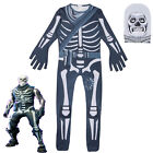 Halloween Kids Boys Girl Fortnite Skull Trooper Cosplay Costume Clothes Casual
