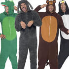 Animal Jumpsuit Fancy Dress Mens Ladies Jungle Book Zoo Pyjamas Costume Outfits