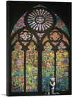 ARTCANVAS Graffiti Stained Glass Canvas Art Print by Banksy